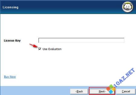 Tích Use Evaluation hoặc nhập key