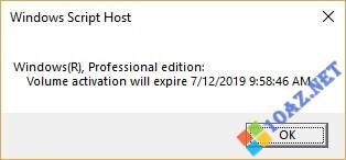 Thời hạn bản quyền Windows 10