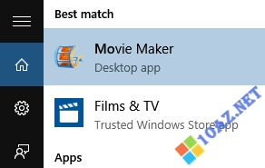 Mở Movie Maker