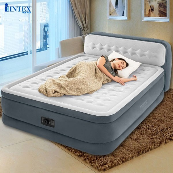 New technology self-inflating steam bed with INTEX 64448 headboard